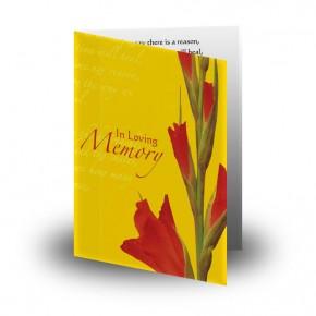 Late Spring Gladioli Folded Memorial Card