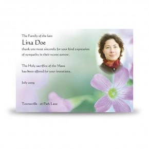 Effloresce Acknowledgement Card