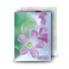 Effloresce Standard Memorial Card