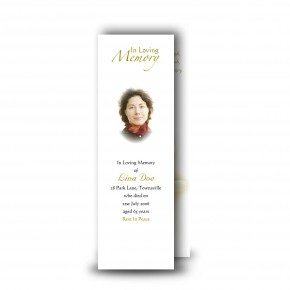 White Peace Lily Bookmarker