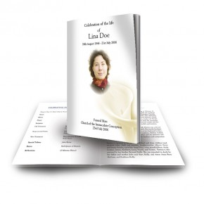 White Peace Lily Funeral Book
