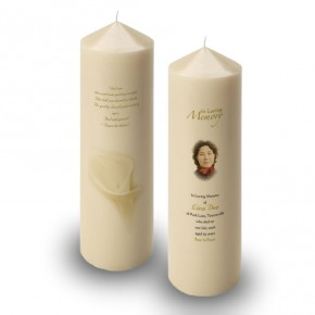 White Peace Lily Candle