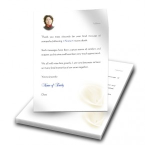 White Peace Lily Thank You Letter