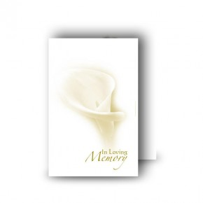 White Peace Lily Wallet Card