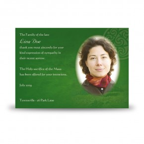 Irish Roots Acknowledgement Card