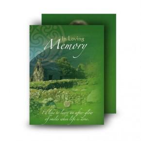 Irish Roots Standard Memorial Card