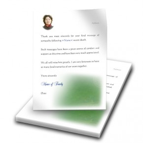 Irish Roots Thank You Letter