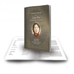 Decorative Links Funeral Book