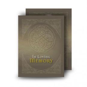 Decorative Links Standard Memorial Card