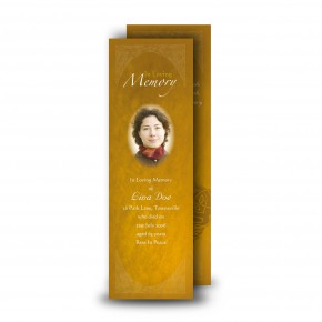 A Glowing Tribute Bookmarker