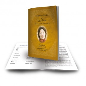 A Glowing Tribute Funeral Book