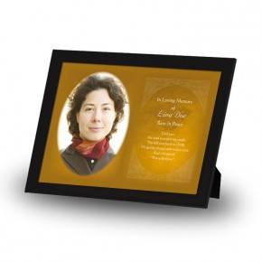 A Glowing Tribute Framed Memory