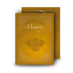 A Glowing Tribute Standard Memorial Card