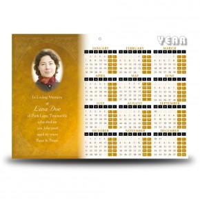 A Glowing Tribute Calendar Single Page