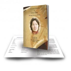 Paper Rose Funeral Book