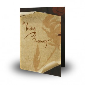 Paper Rose Folded Memorial Card