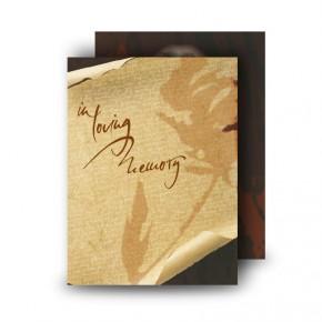 Paper Rose Standard Memorial Card
