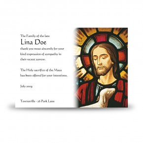 Stained Glass Our Lord Acknowledgement Card