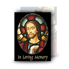 Stained Glass Our Lord Standard Memorial Card