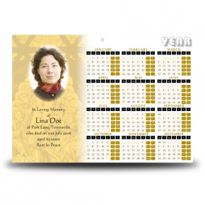 The Last Supper Calendar Single Page