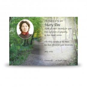 Lane Bluebells Castle Coole Co Fermanagh Acknowledgement Card