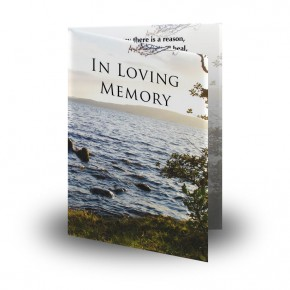 Lough Erne Shore Co Fermanagh Folded Memorial Card