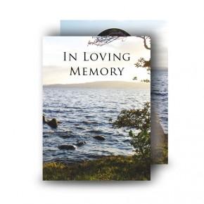 Lough Erne Shore Co Fermanagh Standard Memorial Card