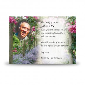A Gardeners Paradise Acknowledgement Card