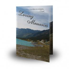 The Rockies Canada Folded Memorial Card