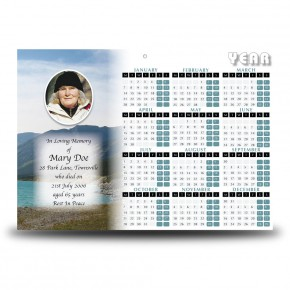 The Rockies Canada Calendar Single Page