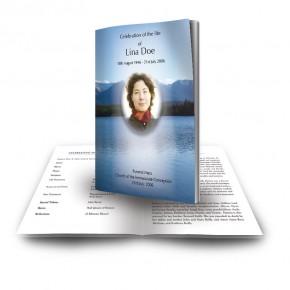 Canadian Mountain Scene Funeral Book