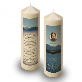 Canadian Mountain Scene Candle