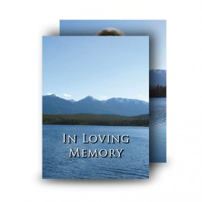 Canadian Mountain Scene Standard Memorial Card