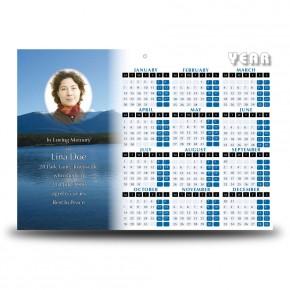 Canadian Mountain Scene Calendar Single Page