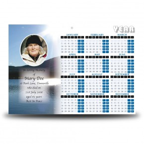 Andes Mountains South America Calendar Single Page