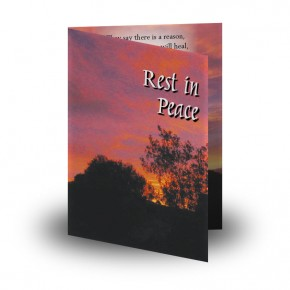 Red Sky At Night Co Meath Folded Memorial Card