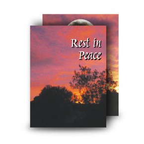 Red Sky At Night Co Meath Standard Memorial Card