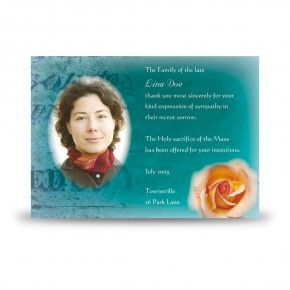 Epitaph Rose Acknowledgement Card