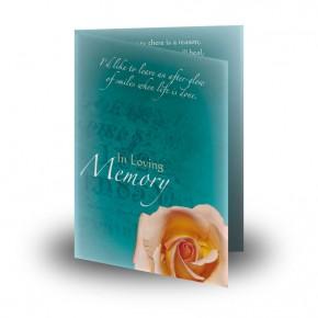 Epitaph Rose Folded Memorial Card