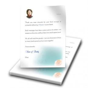 Epitaph Rose Thank You Letter
