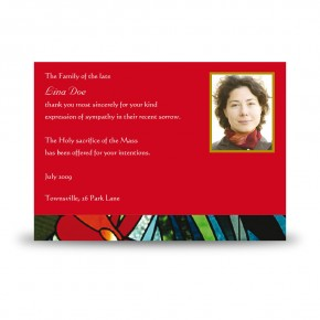 Stained Glass Flowers Acknowledgement Card