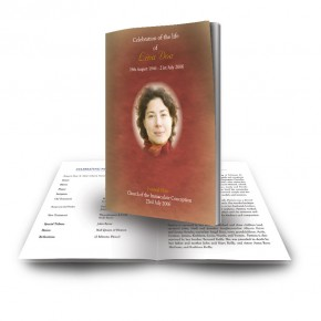 Image of Jesus Christ Funeral Book