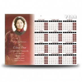 Image of Jesus Christ Calendar Single Page