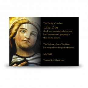Virgin Mary Acknowledgement Card
