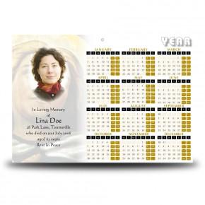 Virgin Mary Calendar Single Page