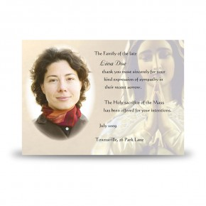 Our Lady At Prayer Acknowledgement Card
