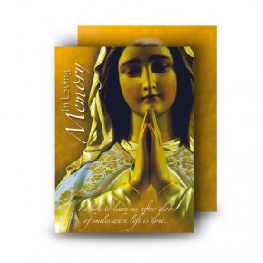 Our Lady At Prayer Standard Memorial Card