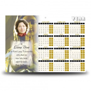 Our Lady At Prayer Calendar Single Page