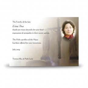 A Place of Peace Acknowledgement Card