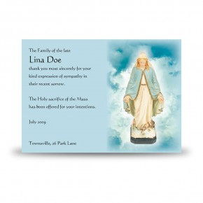 Our Lady Acknowledgement Card